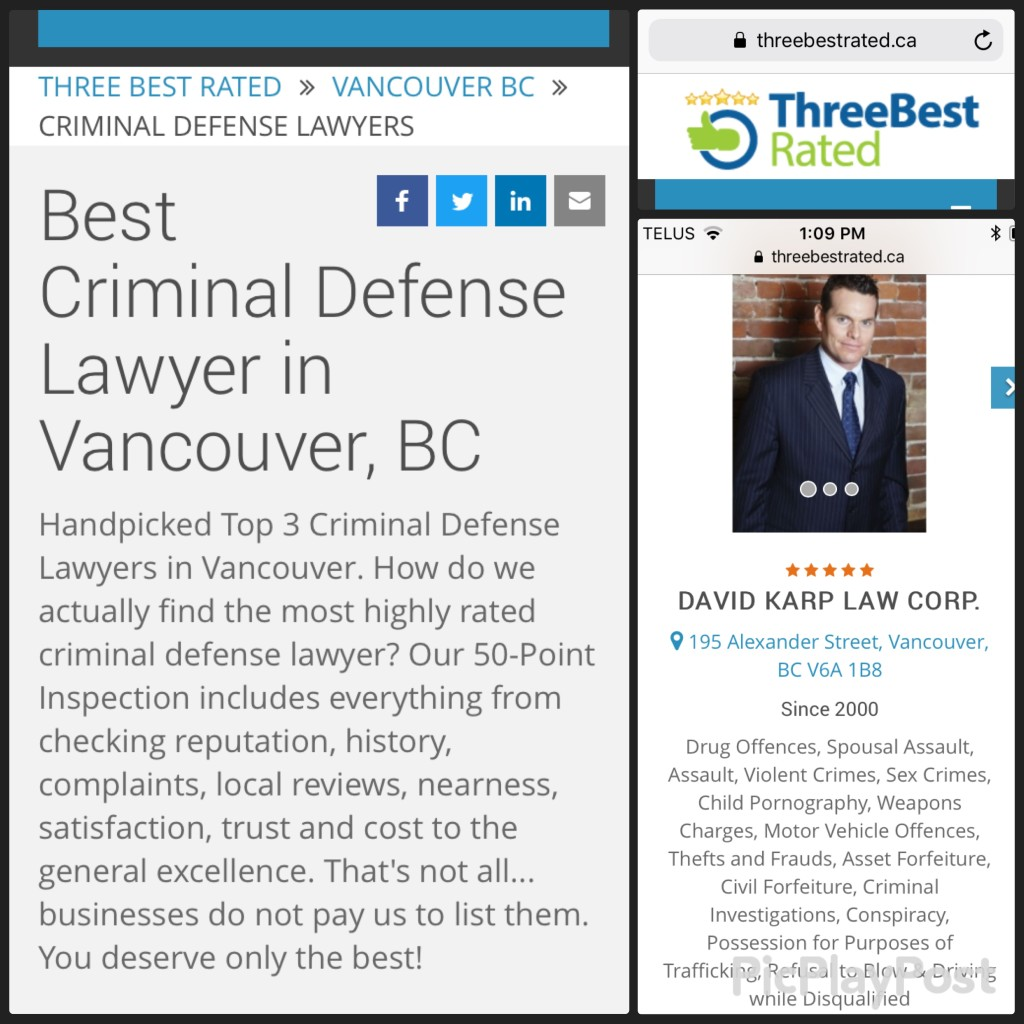 David Karp rated best lawyer in Vancouver